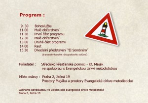 KC Maják slaví deset let činnosti - program oslav