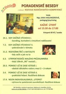 SKP Klubíčko - nabídka poradenských besed 1-4/2012